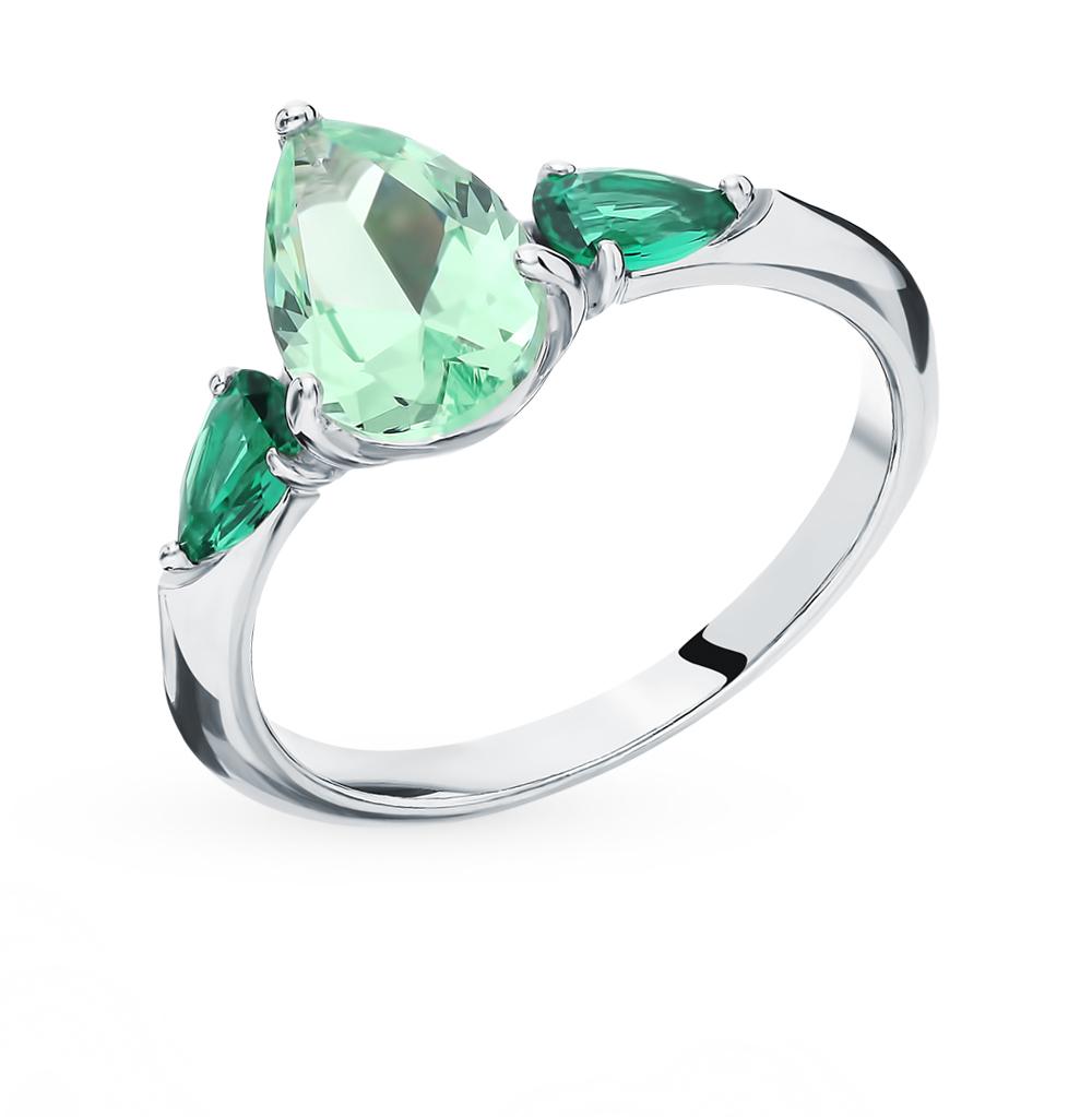 серебряное кольцо с фианитами SOKOLOV 94012750