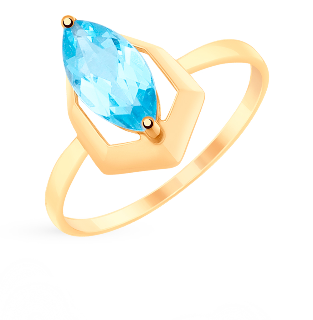Фото «Золотое кольцо с топазом SOKOLOV 715306*»