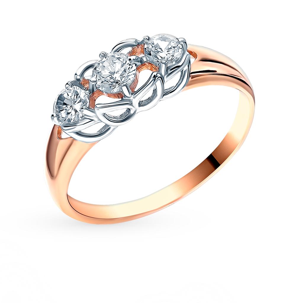 Фото «Золотое кольцо с фианитами SOKOLOV 018460*»