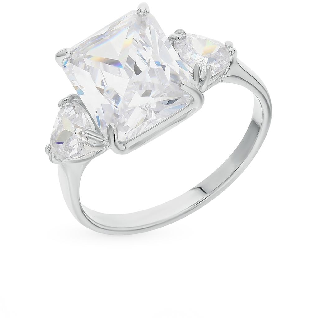 серебряное кольцо с фианитами SOKOLOV 94012035