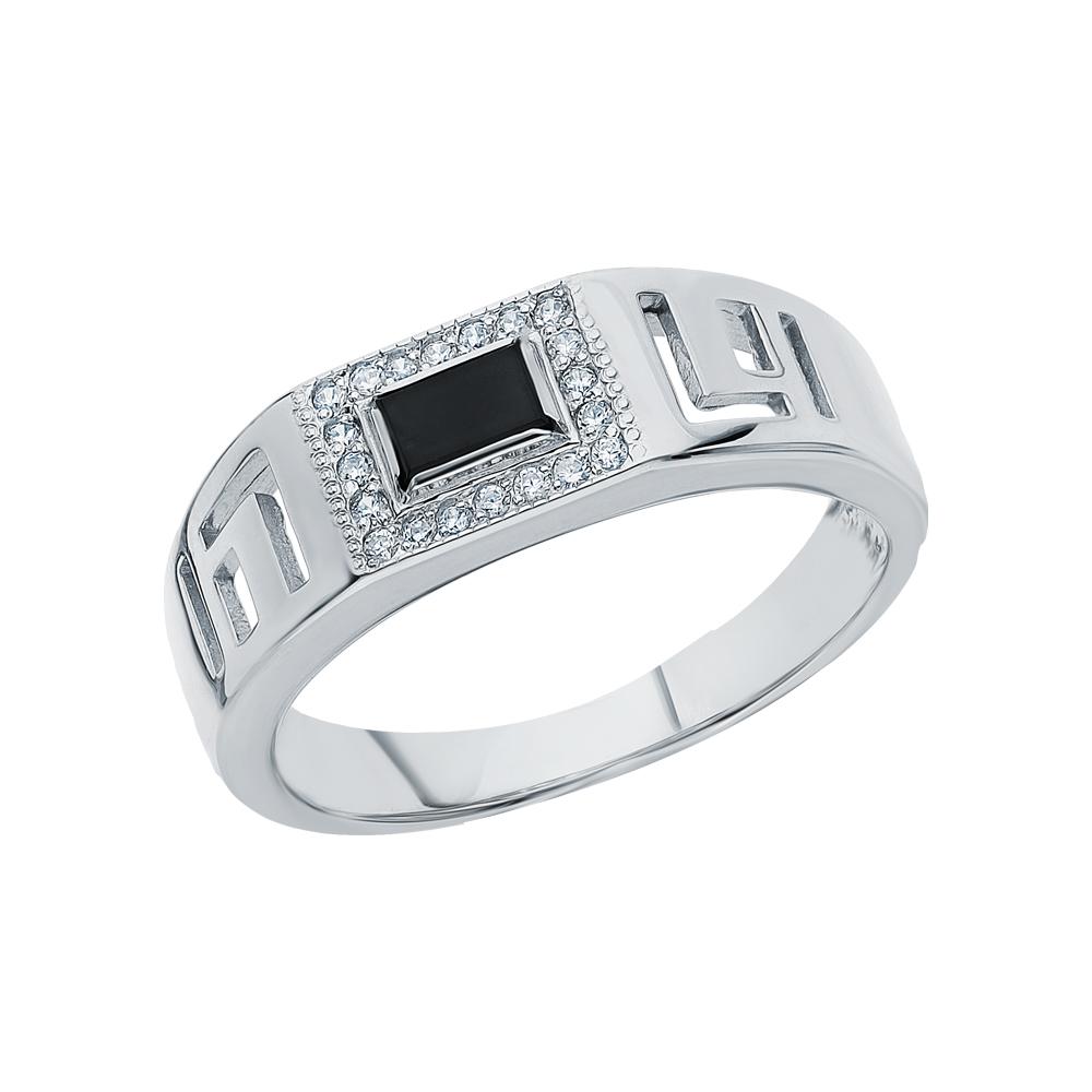 Фото «Серебряное кольцо с опалами имитациями и кубическими циркониями»