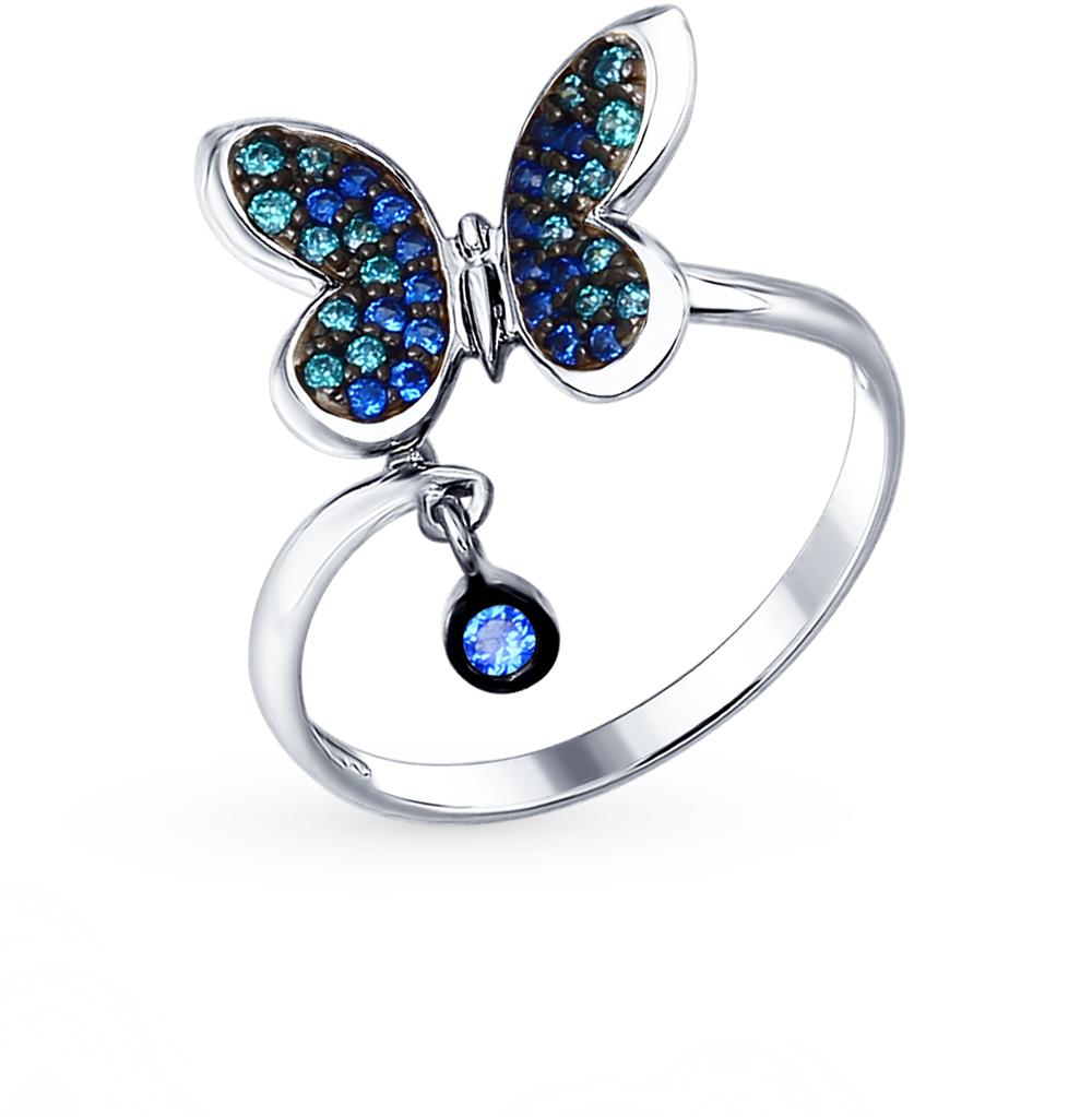 Фото «Серебряное кольцо с фианитами SOKOLOV 94012308»