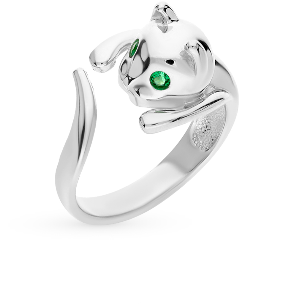 Фото «Серебряное кольцо с фианитами SOKOLOV 94011327»
