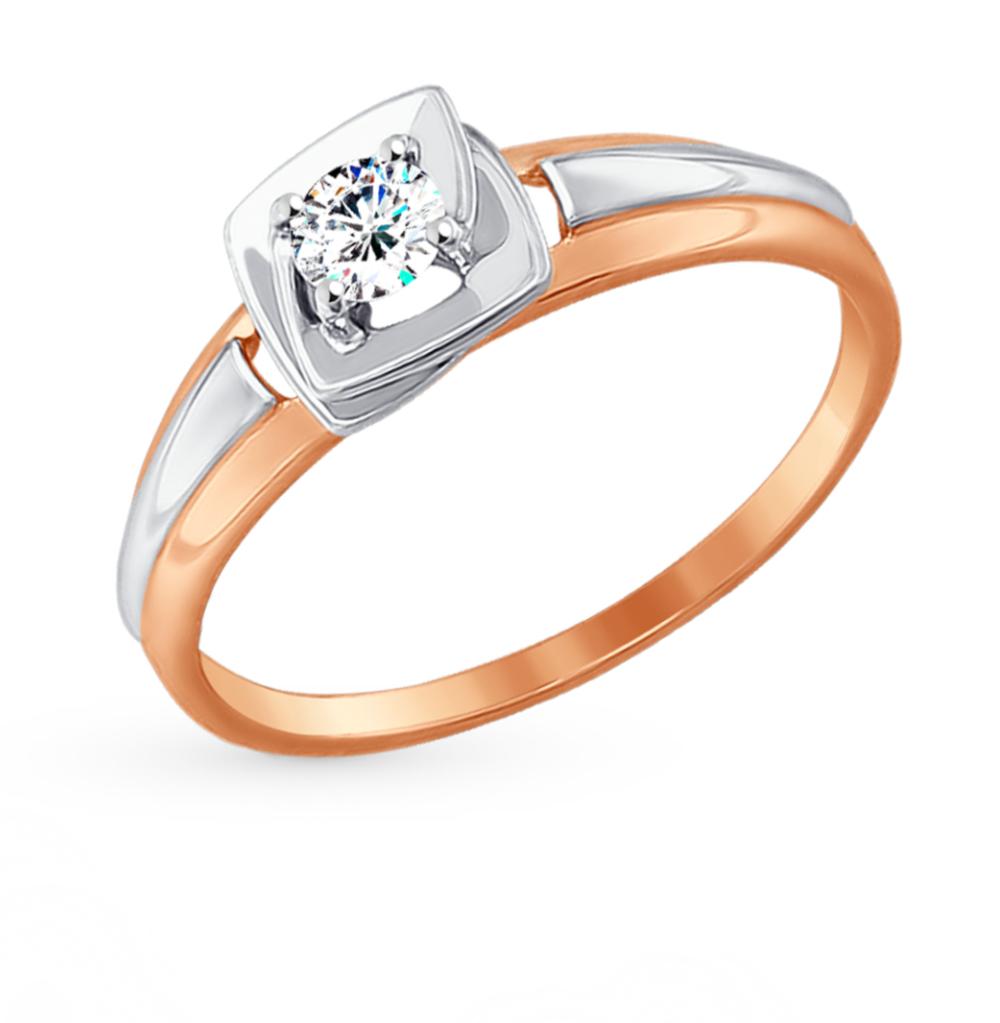 Фото «Золотое кольцо с фианитами SOKOLOV 017453*»