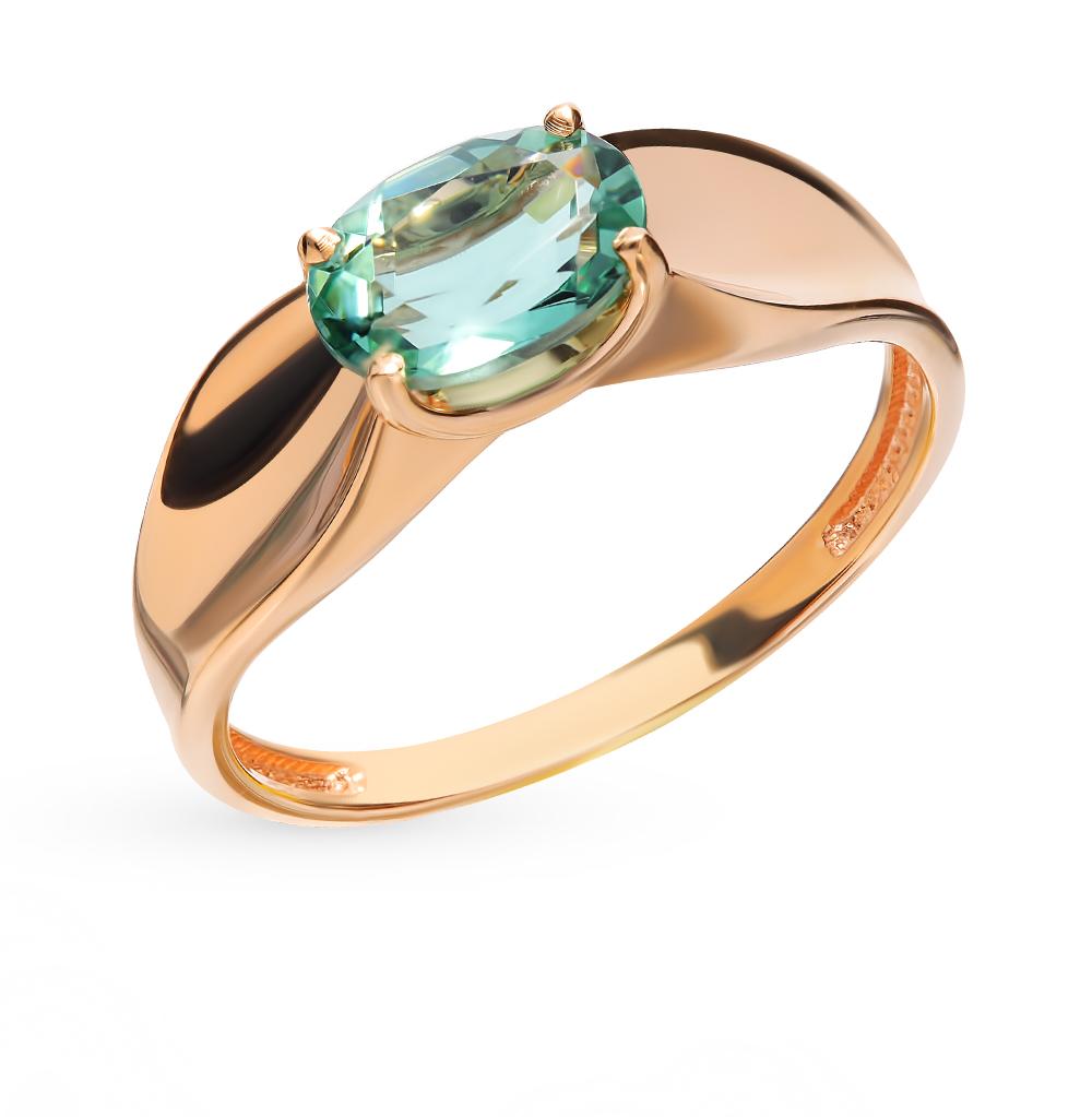 Золотое кольцо с кварцем в Санкт-Петербурге