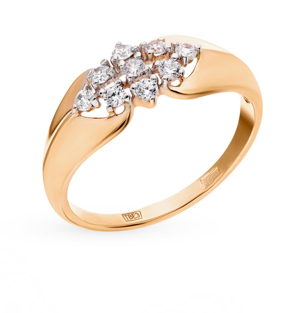 золотое кольцо с фианитами SOKOLOV 017499*