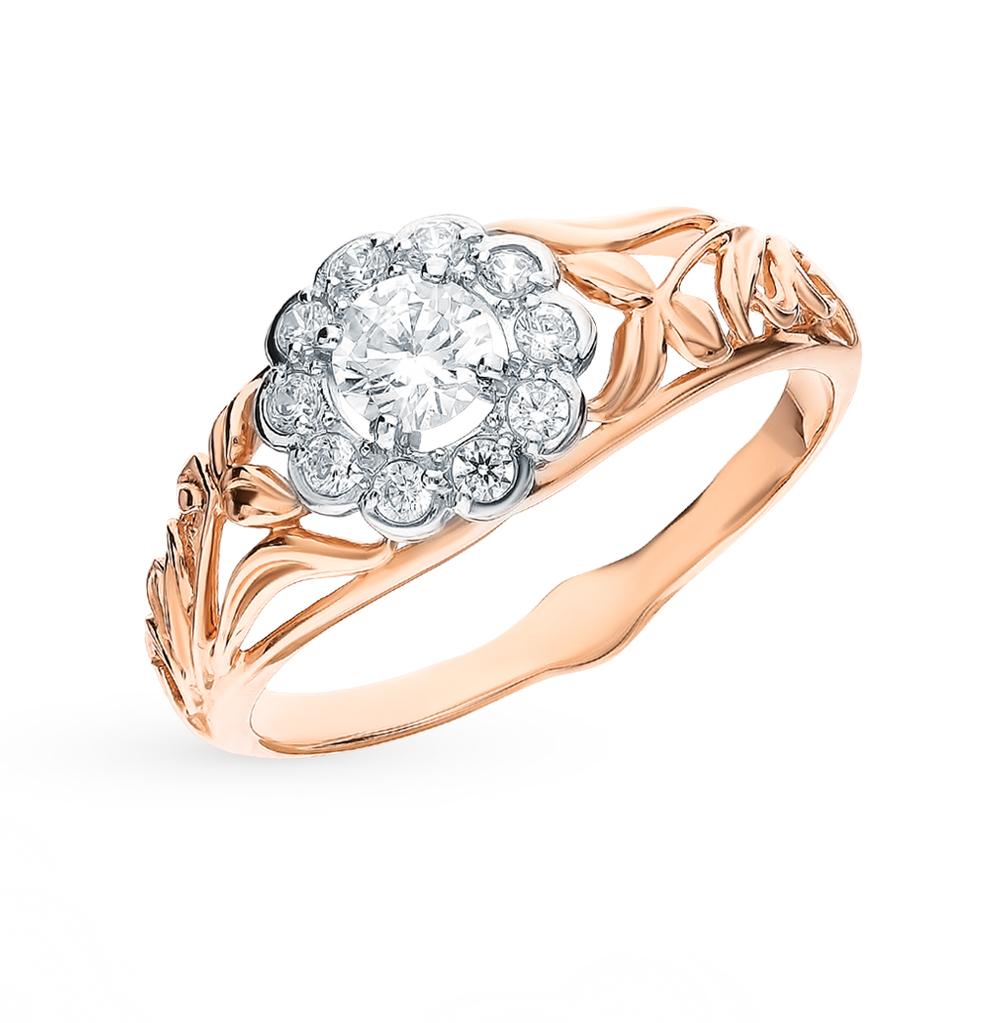 Фото «Золотое кольцо с фианитами SOKOLOV 017941*»
