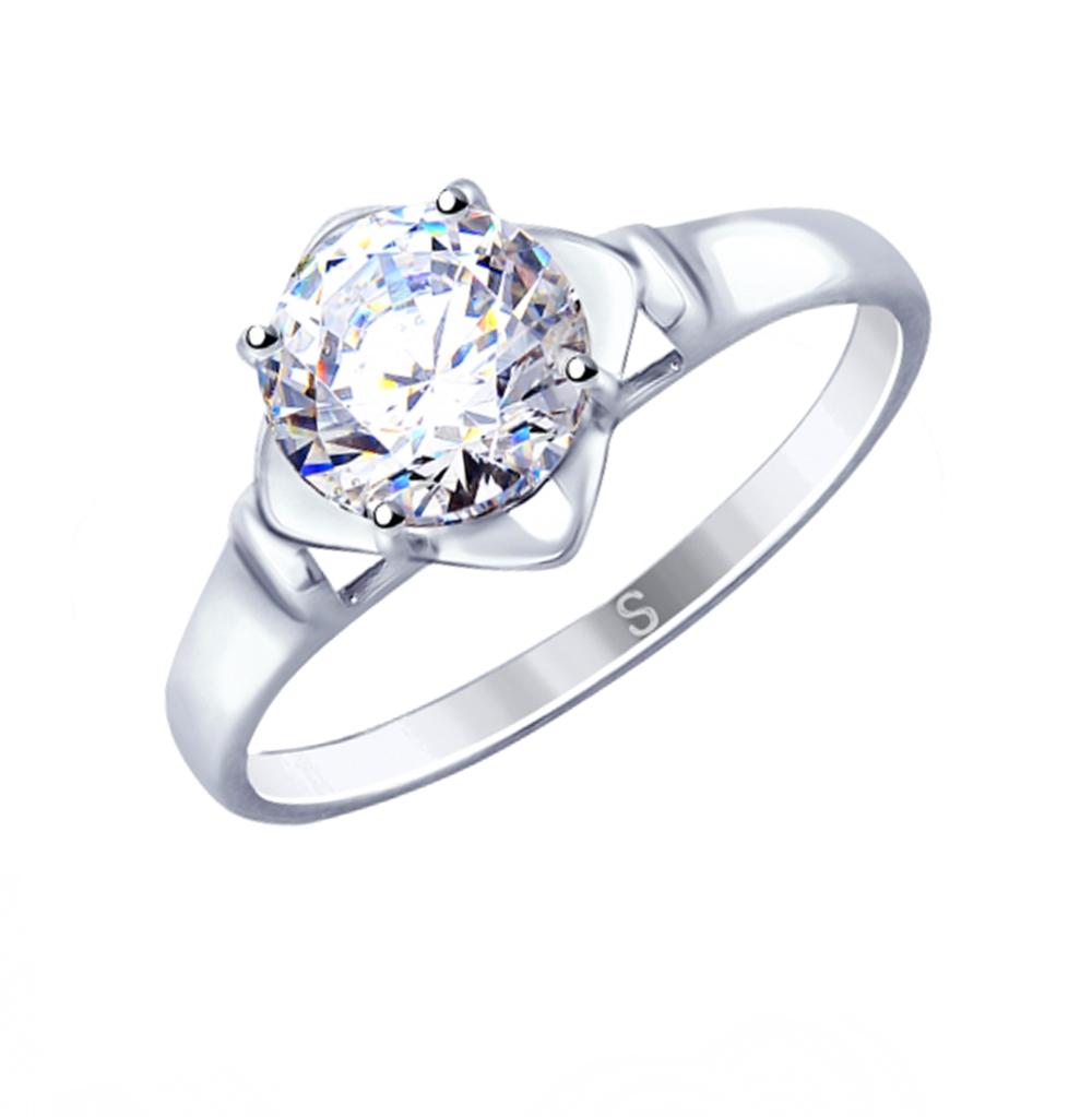 Фото «Серебряное кольцо с фианитами SOKOLOV 89010112»