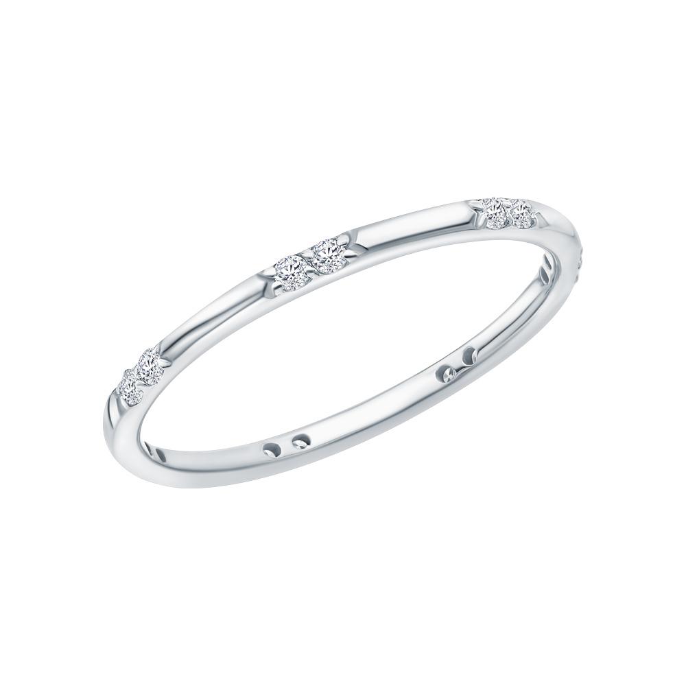 Золотое кольцо «Бриллианты Якутии»: белое золото 585 пробы, бриллиант — купить в интернет-магазине SUNLIGHT, фото, артикул 265322