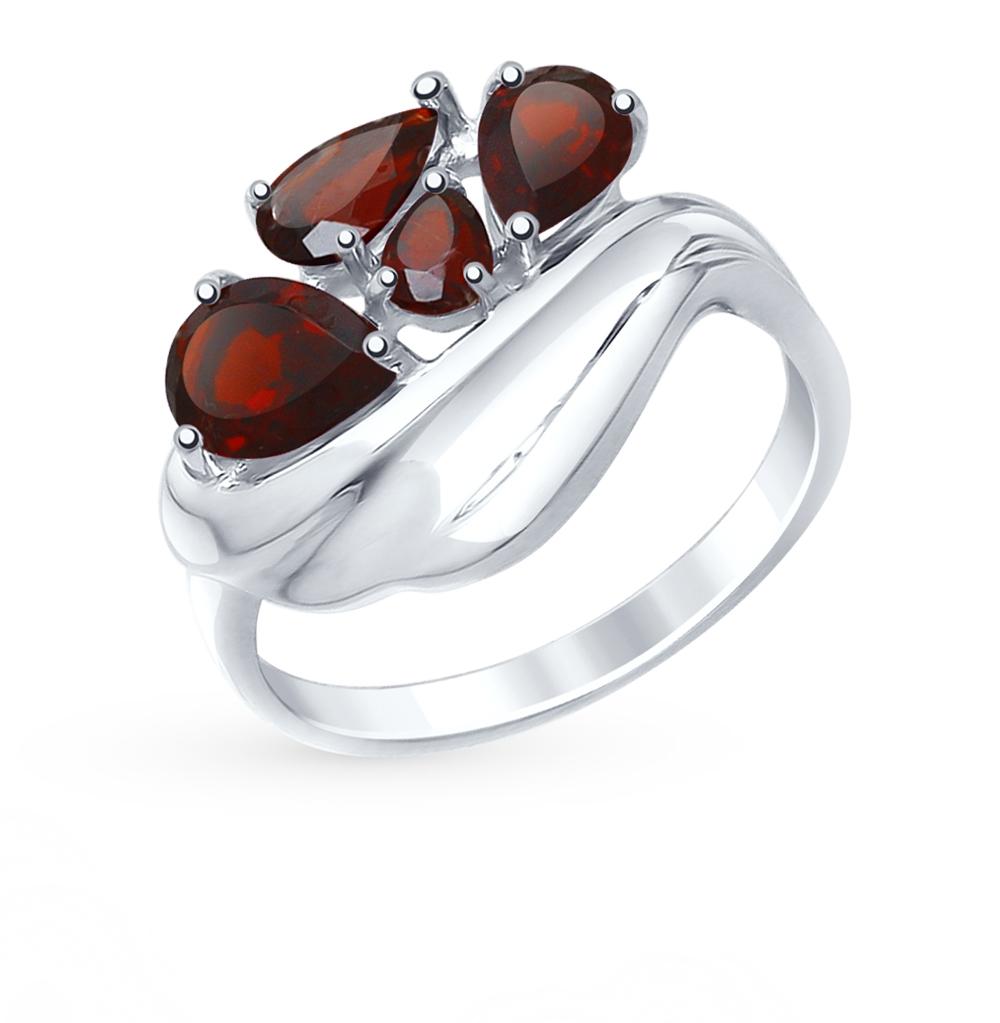 серебряное кольцо с гранатом SOKOLOV 92011443
