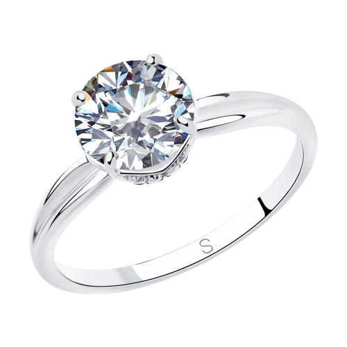 Фото «Серебряное кольцо с фианитами SOKOLOV 94012940»