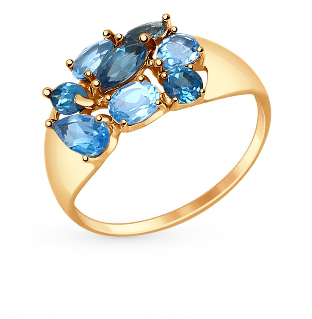 золотое кольцо с топазами SOKOLOV 714680*
