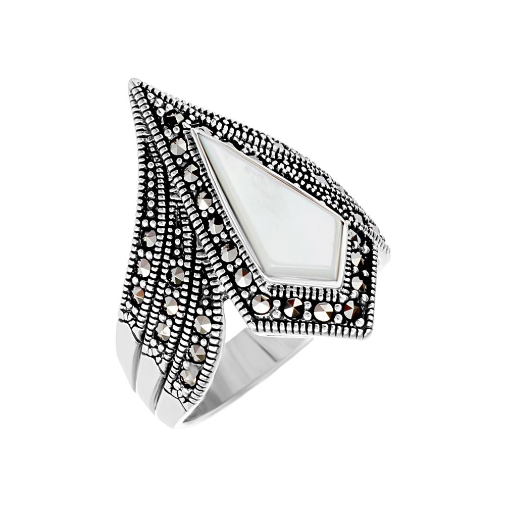 Серебряное кольцо с марказитами swarovski в Екатеринбурге