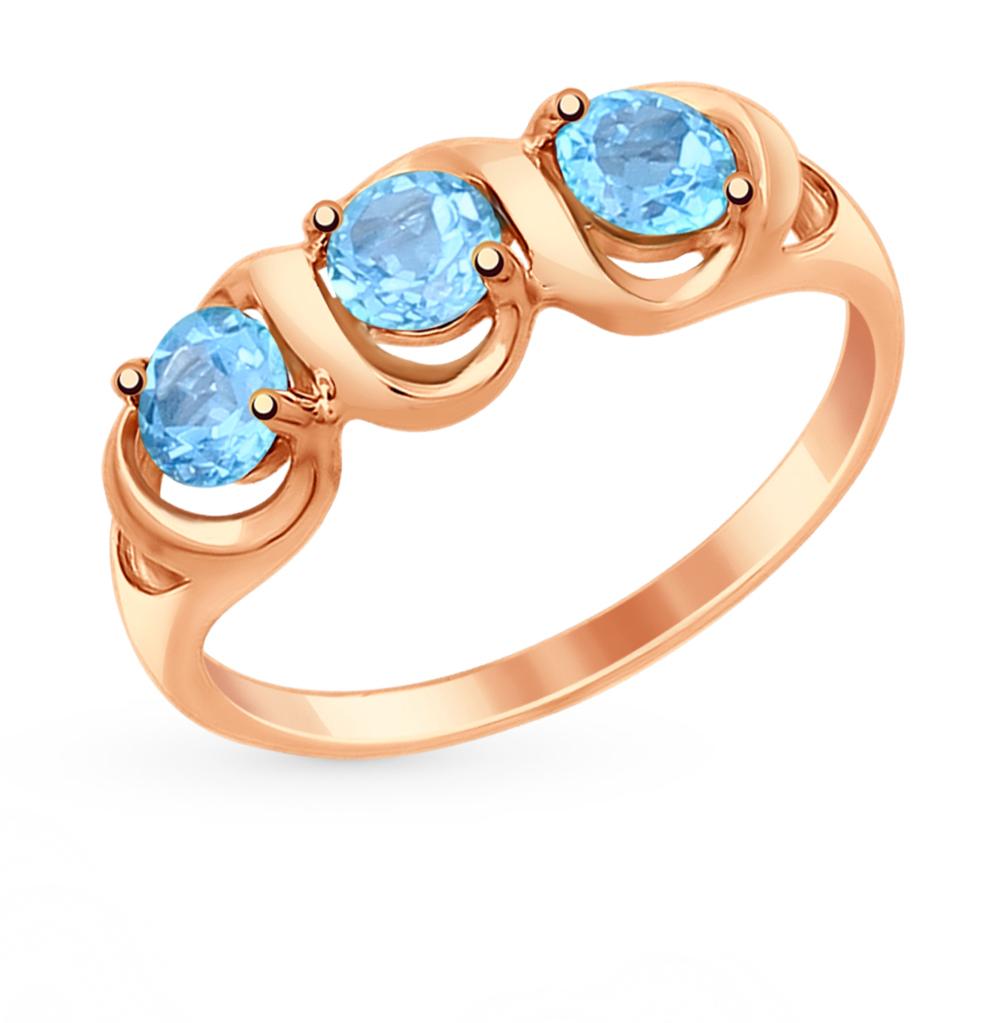 золотое кольцо с топазами SOKOLOV 714861*