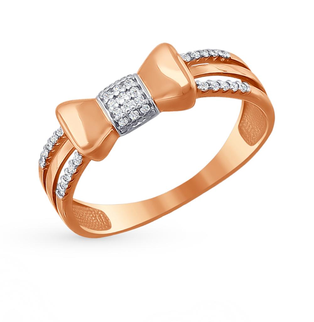 Золотое кольцо с фианитами SOKOLOV 016638* в Екатеринбурге
