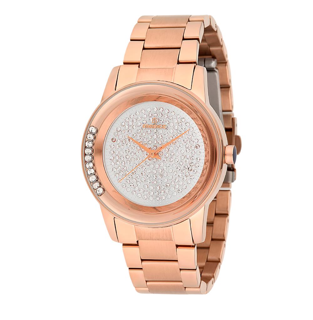 Фото «Женские часы ES6385FE.430 на стальном браслете с розовым PVD покрытием с минеральным стеклом»