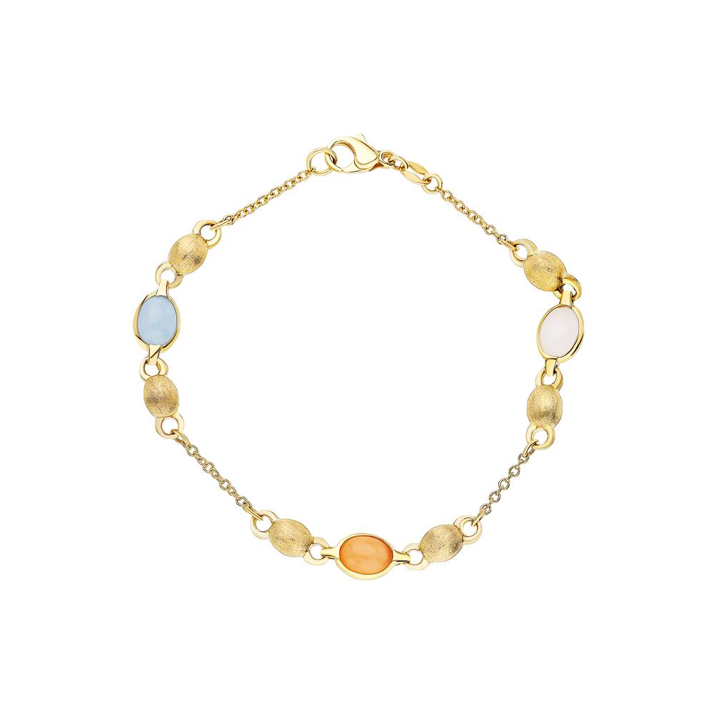 Фото «Золотой браслет с лунными камнями»