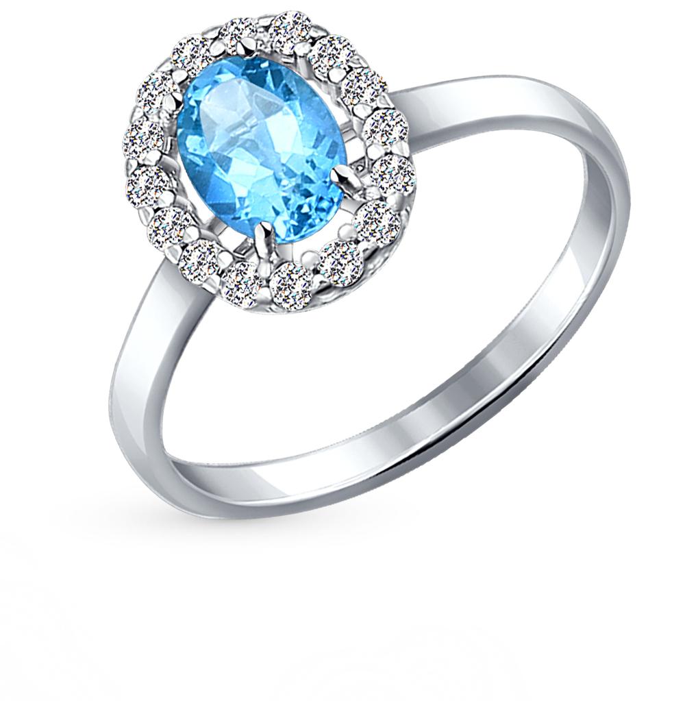 серебряное кольцо с топазами SOKOLOV 92010982