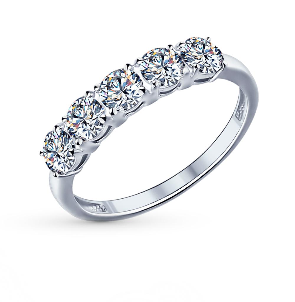 серебряное кольцо с фианитами SOKOLOV 89010005