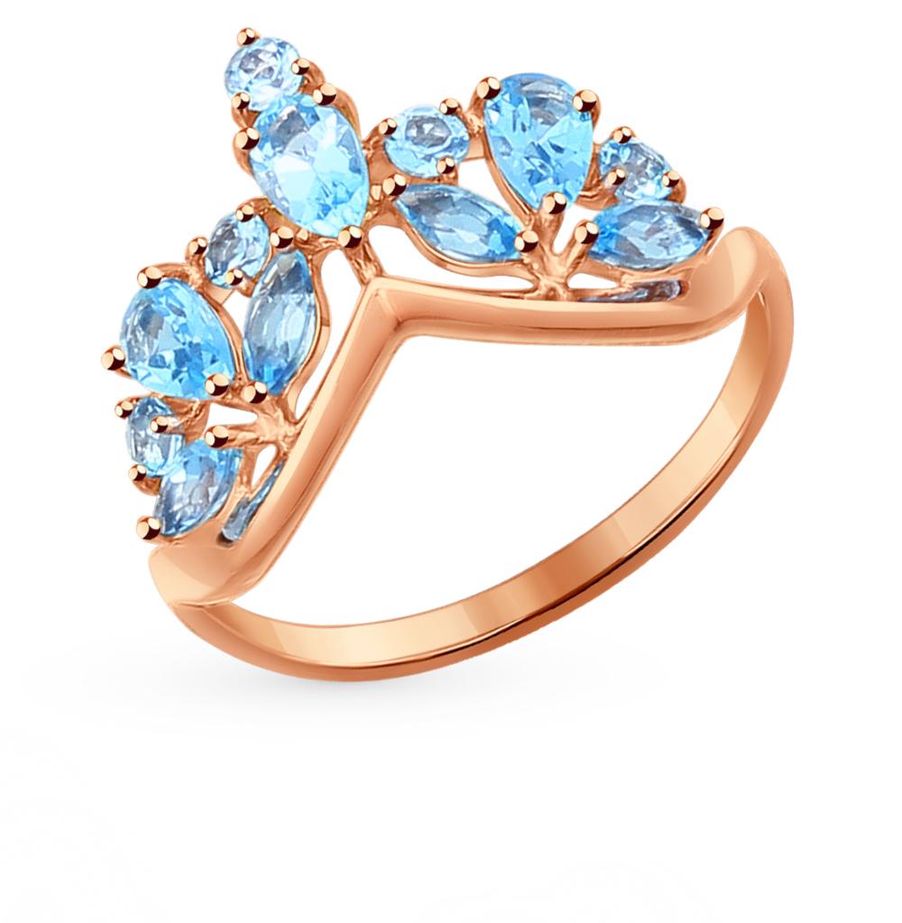 золотое кольцо с топазами SOKOLOV 714275*