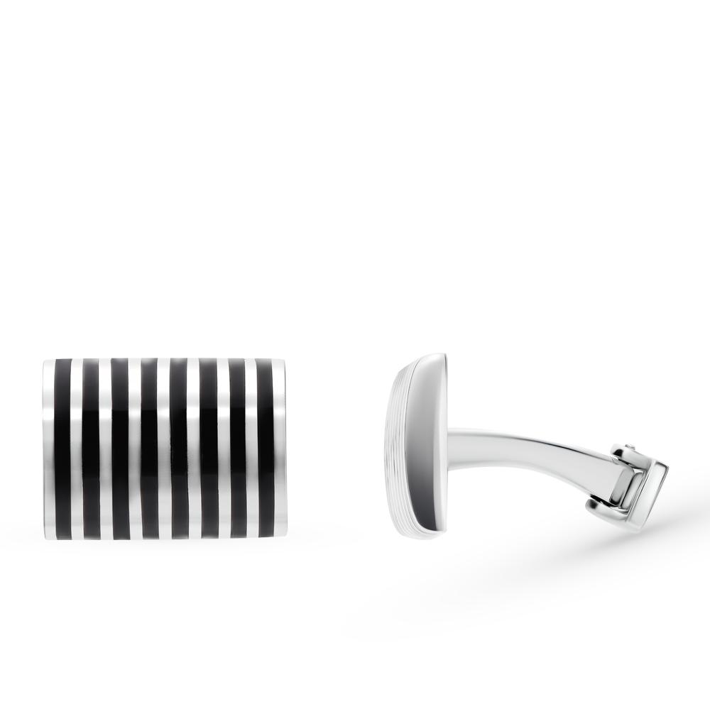 серебряные запонки с ониксом