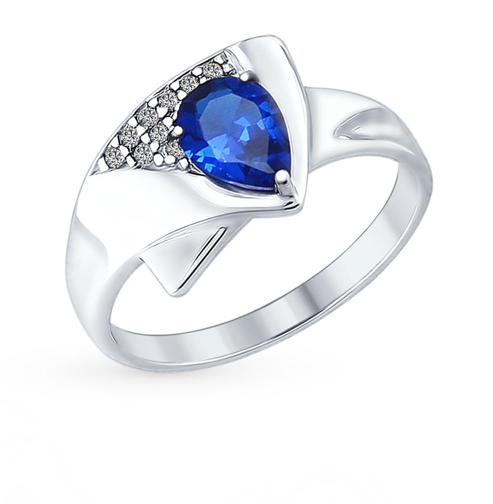 серебряное кольцо с фианитами SOKOLOV 94012591