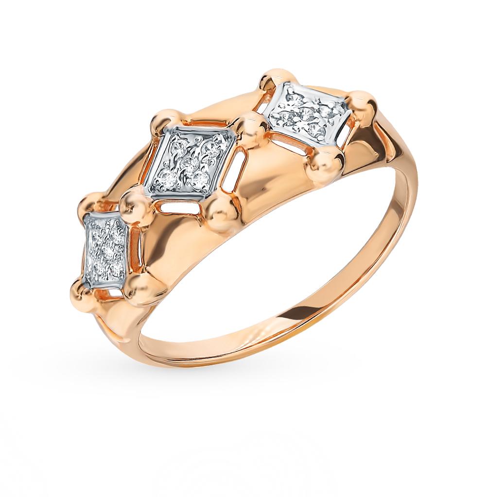 Золотое кольцо с фианитами SOKOLOV 8-010016* в Санкт-Петербурге