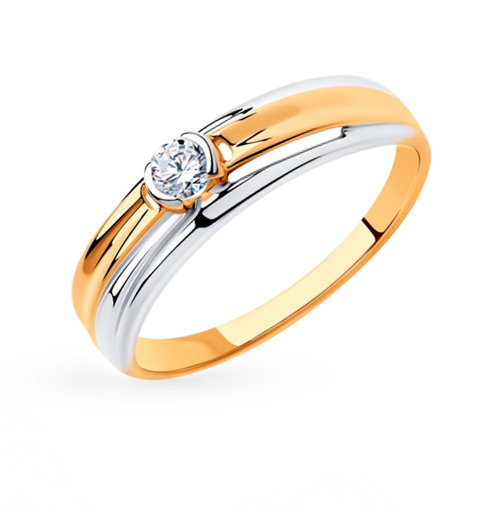 Фото «Золотое кольцо с фианитами SOKOLOV 018335»