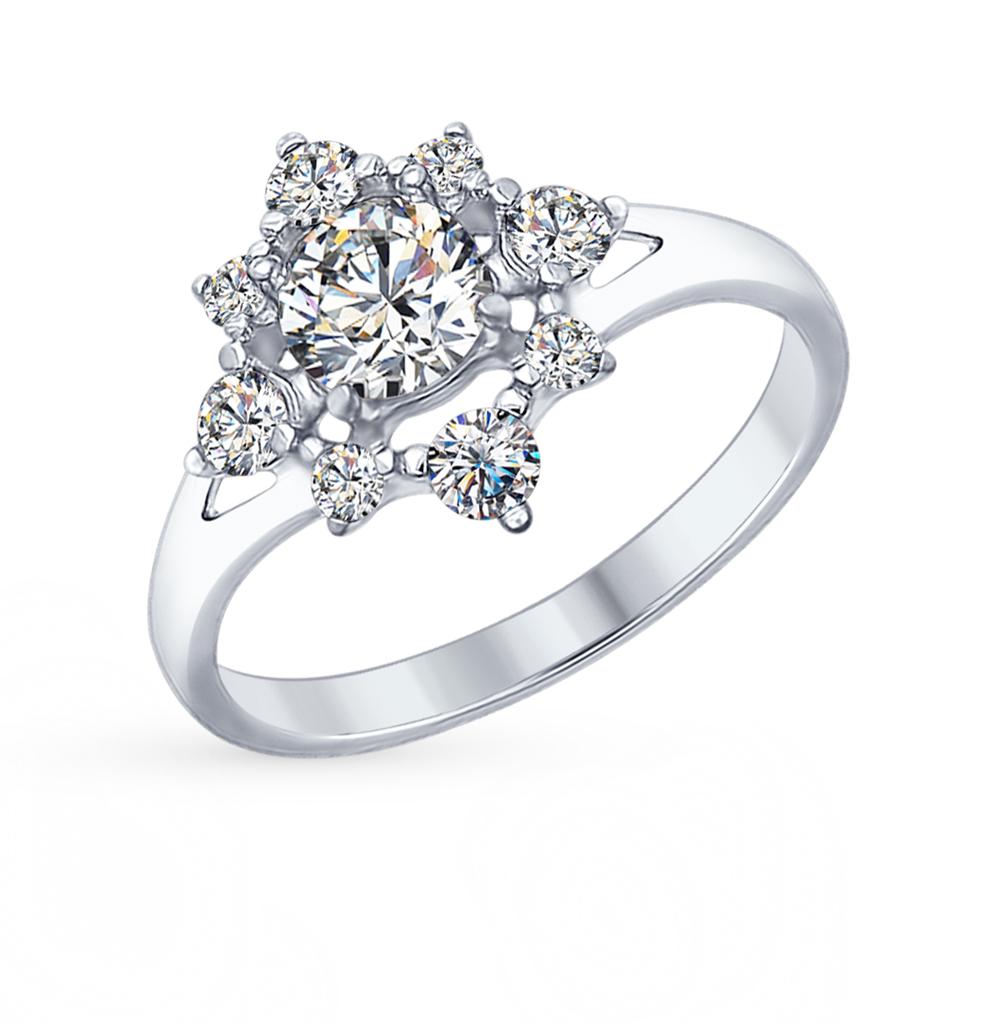серебряное кольцо с фианитами SOKOLOV 94012327
