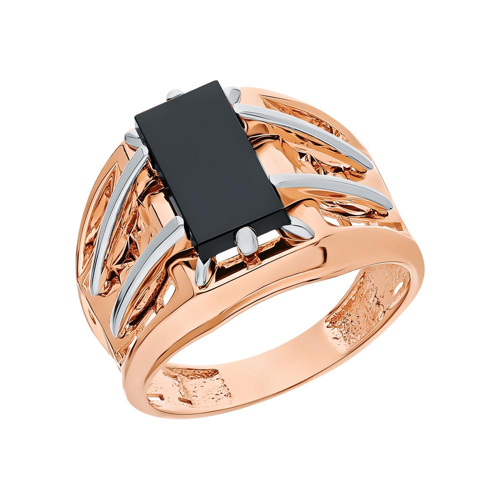 Золотое кольцо с ониксом в Екатеринбурге