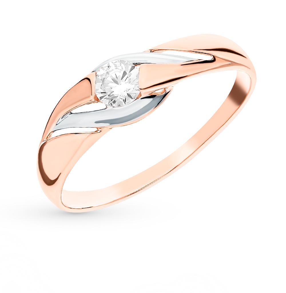 Фото «Золотое кольцо с фианитами SOKOLOV 018401»