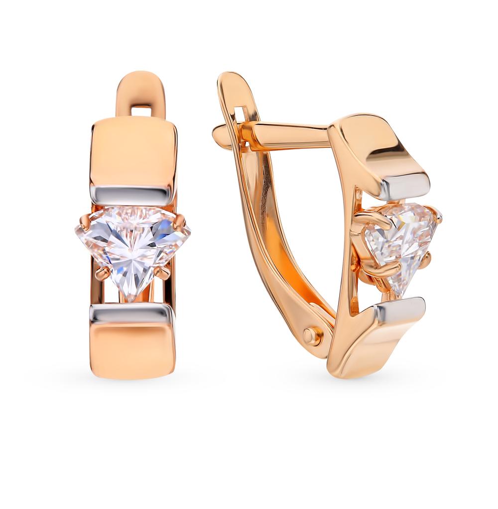 золотые серьги с кристаллами и кристаллами swarovski