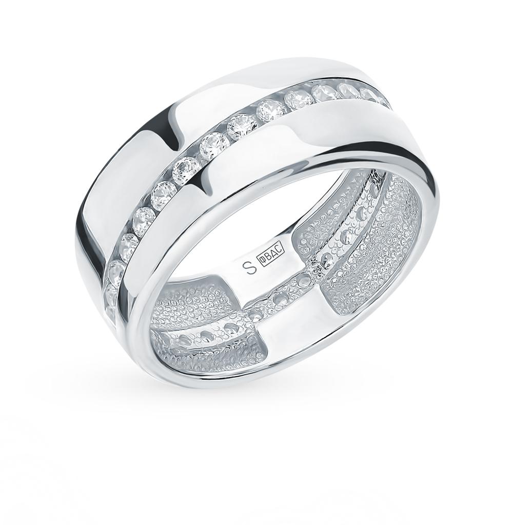 Серебряное кольцо с фианитами SOKOLOV 94110027 в Санкт-Петербурге
