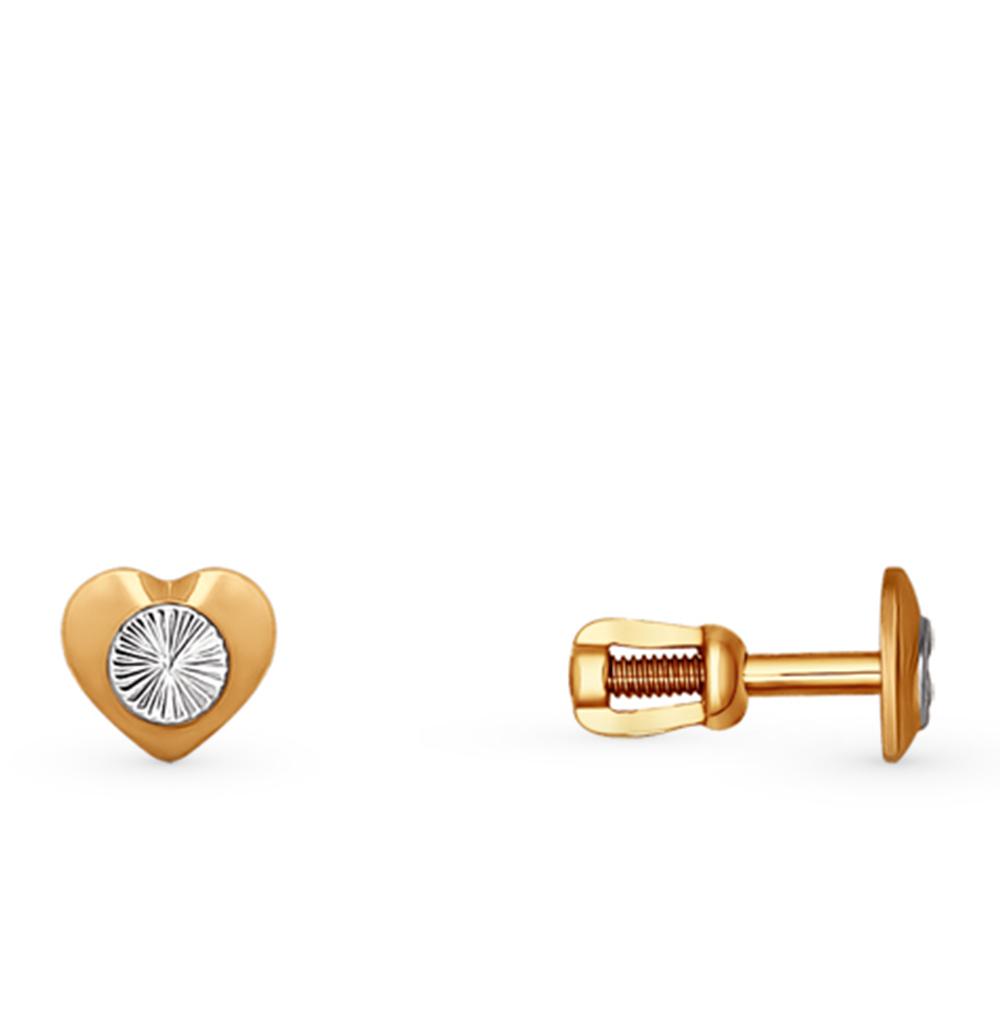 золотые серьги SOKOLOV 022374*