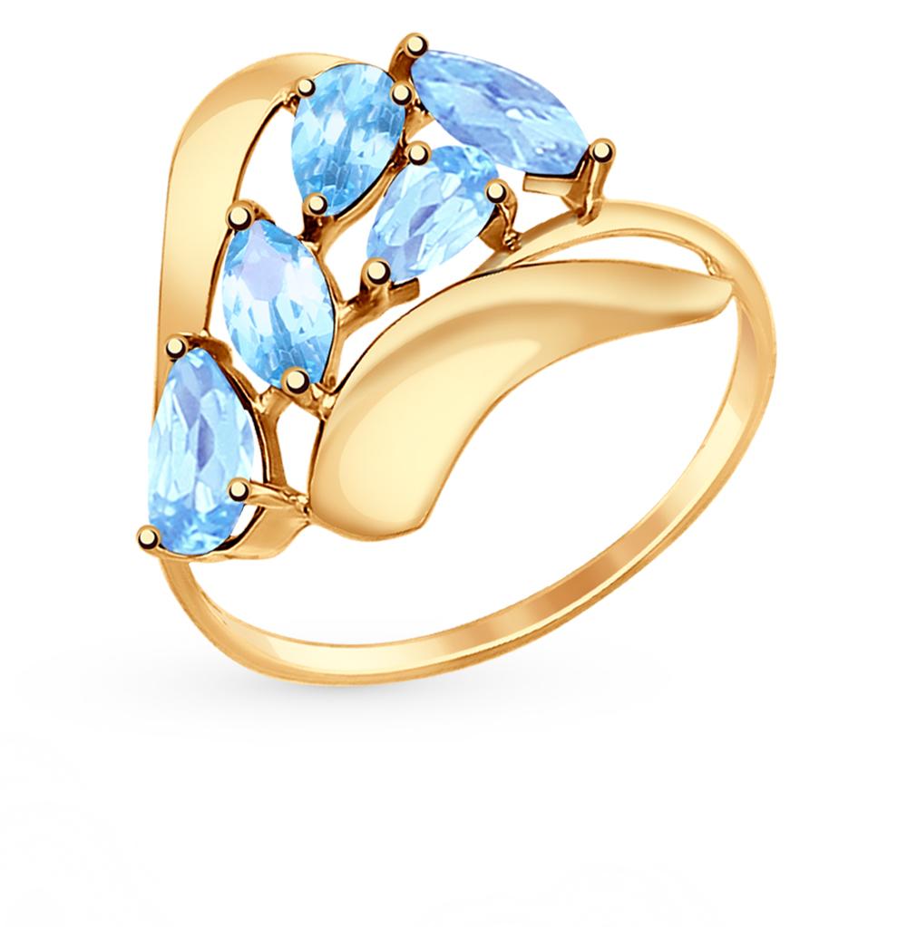 золотое кольцо с топазами SOKOLOV 714657*