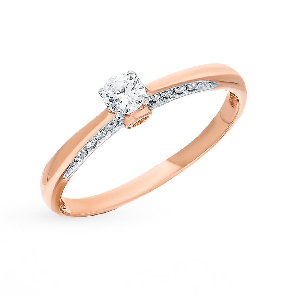 Золотое кольцо с фианитами SOKOLOV 017971* в Екатеринбурге