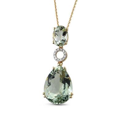 Фото «золотая подвеска с аметистом и бриллиантами»