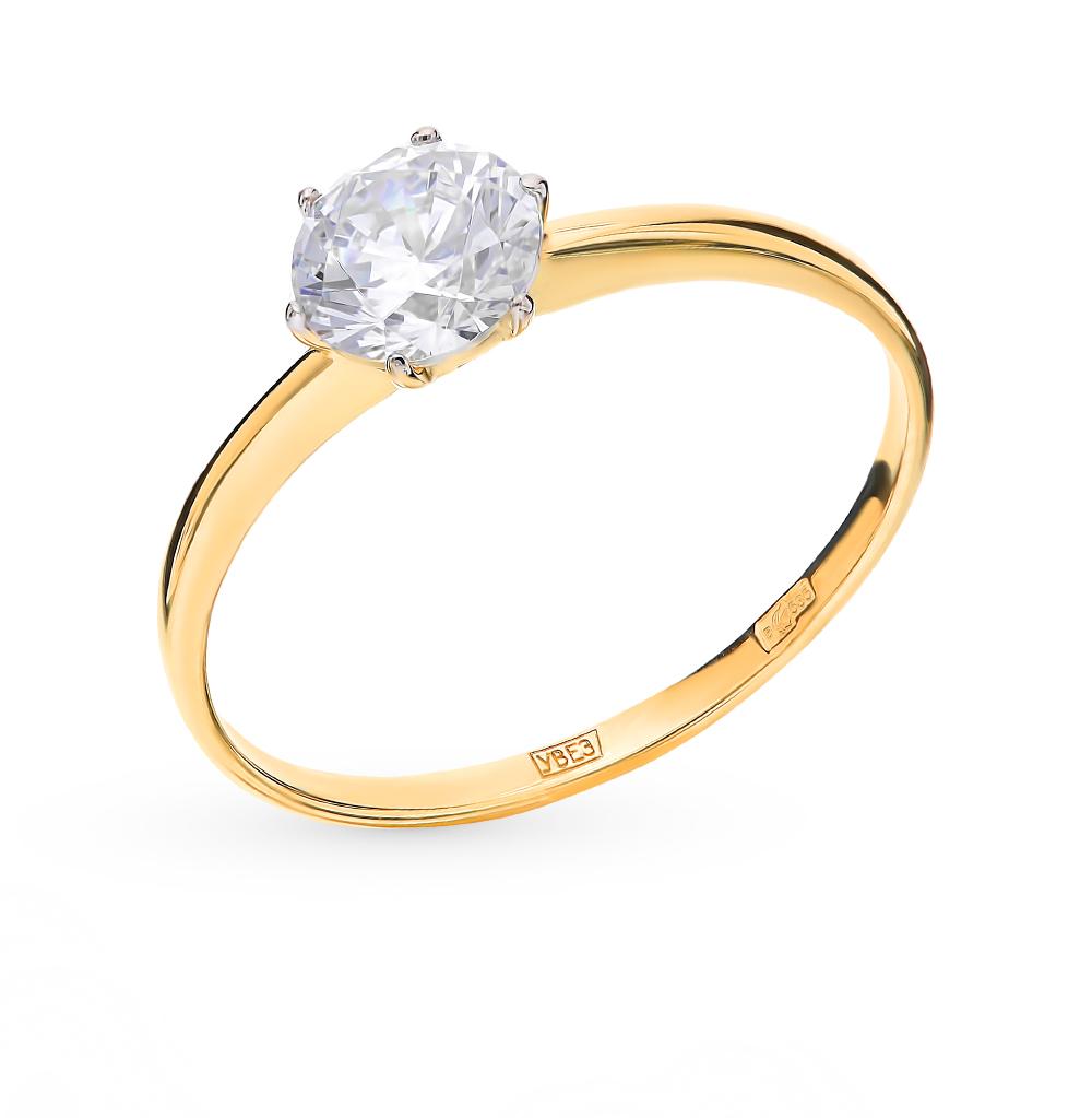 Фото «Золотое кольцо с фианитами SOKOLOV 016788-2*»