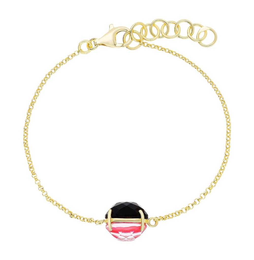 Фото «Серебряный браслет с алпанитом и ракушками»