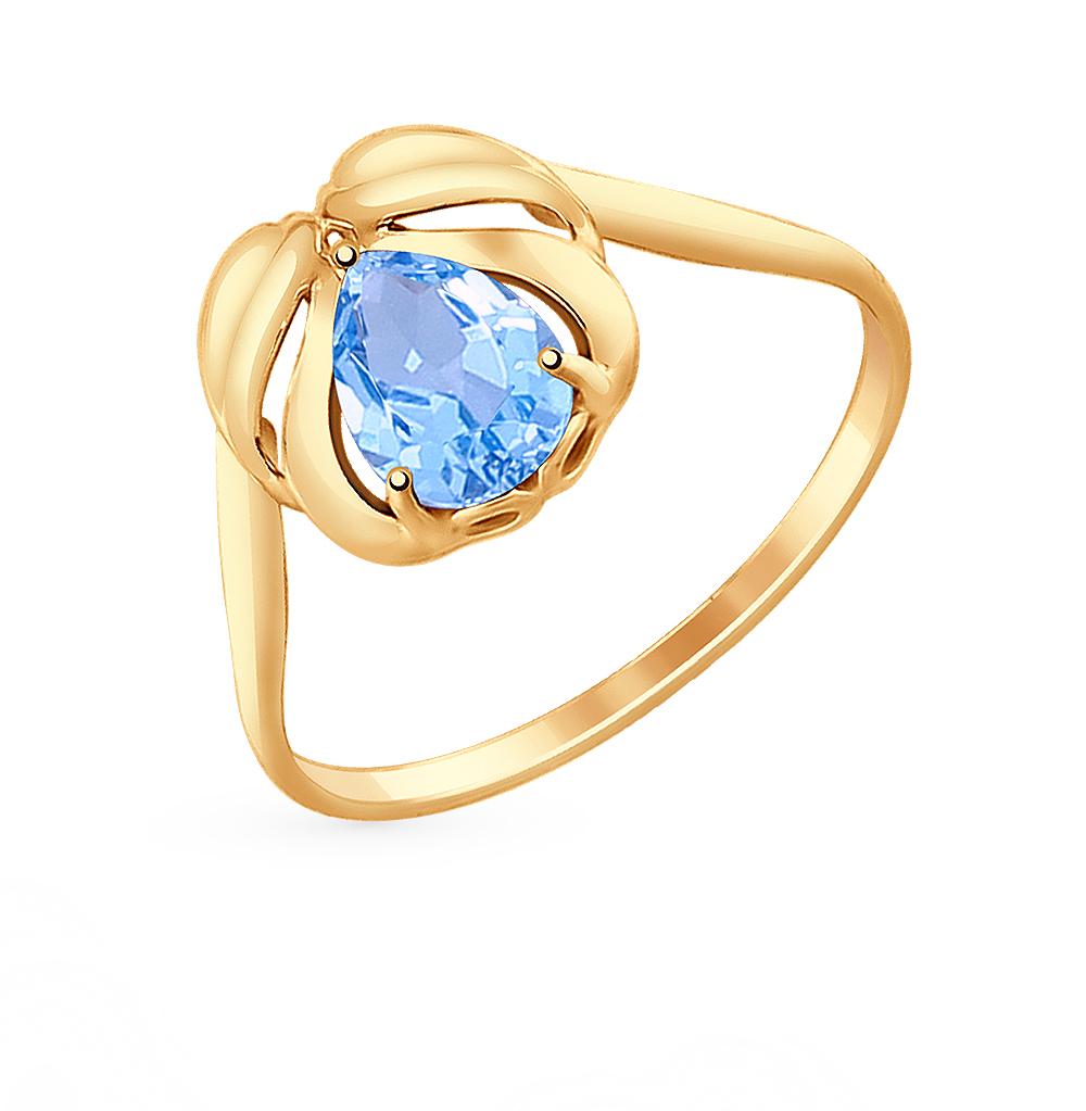 золотое кольцо с топазами SOKOLOV 714700*