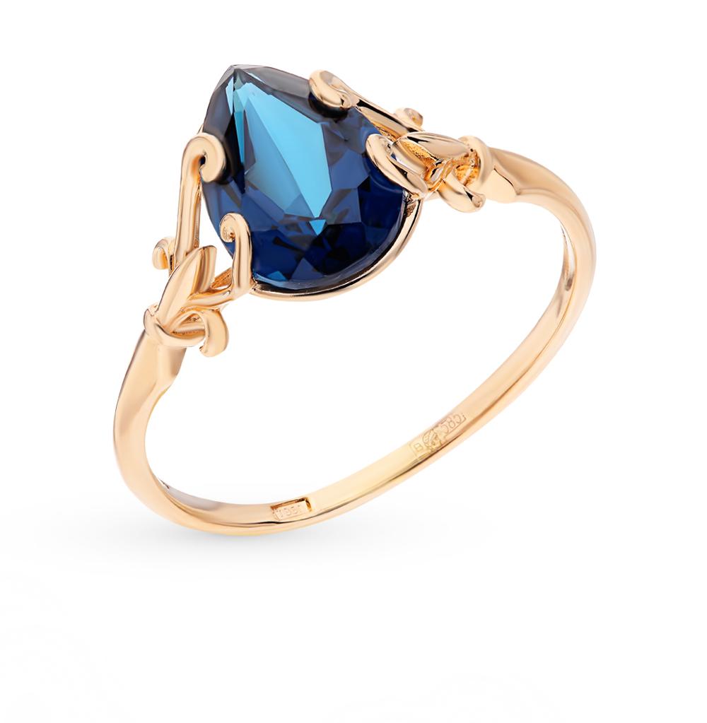 золотое кольцо с ситаллами