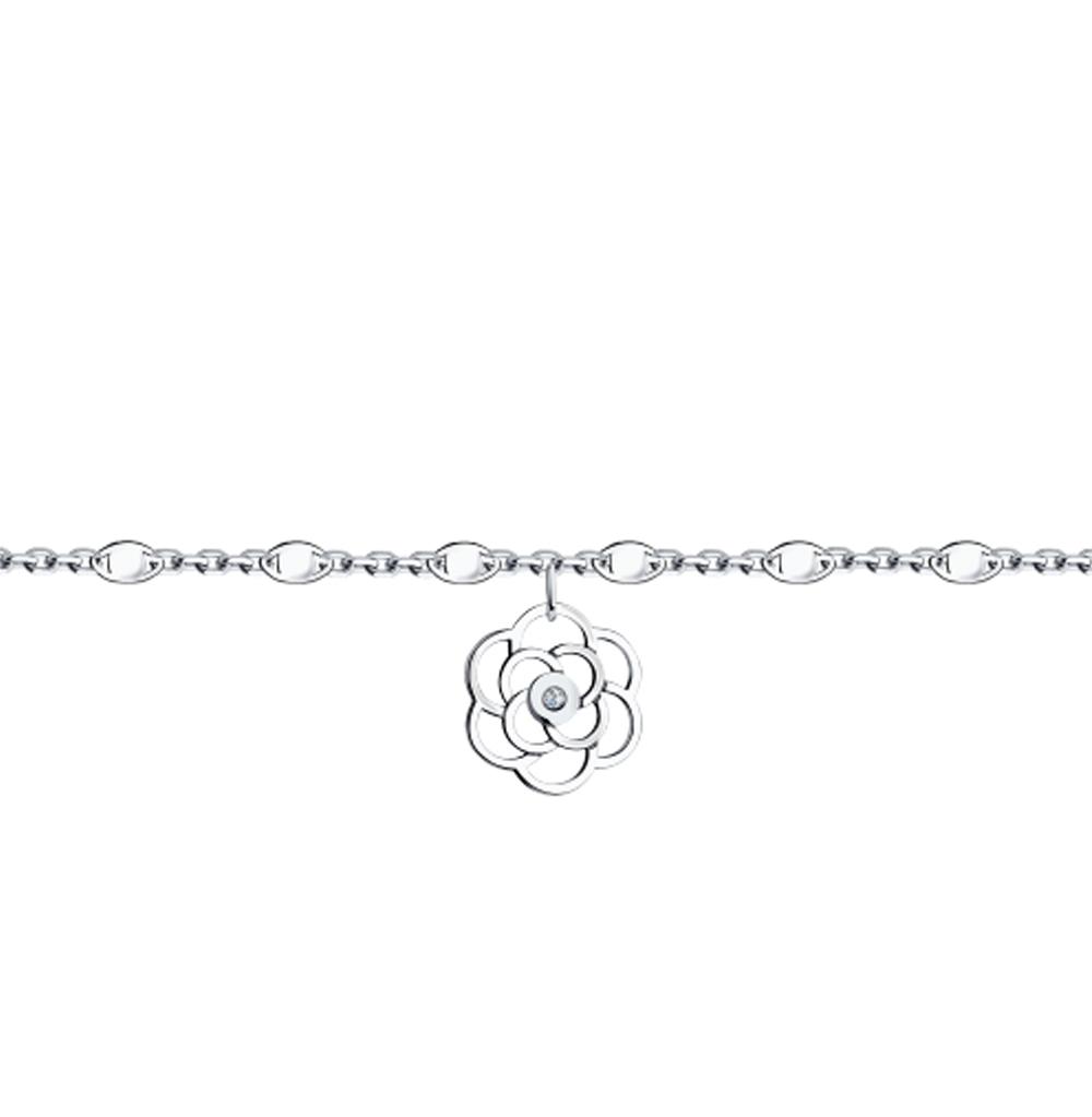 Фото «Золотой браслет с бриллиантами SOKOLOV 1050126»