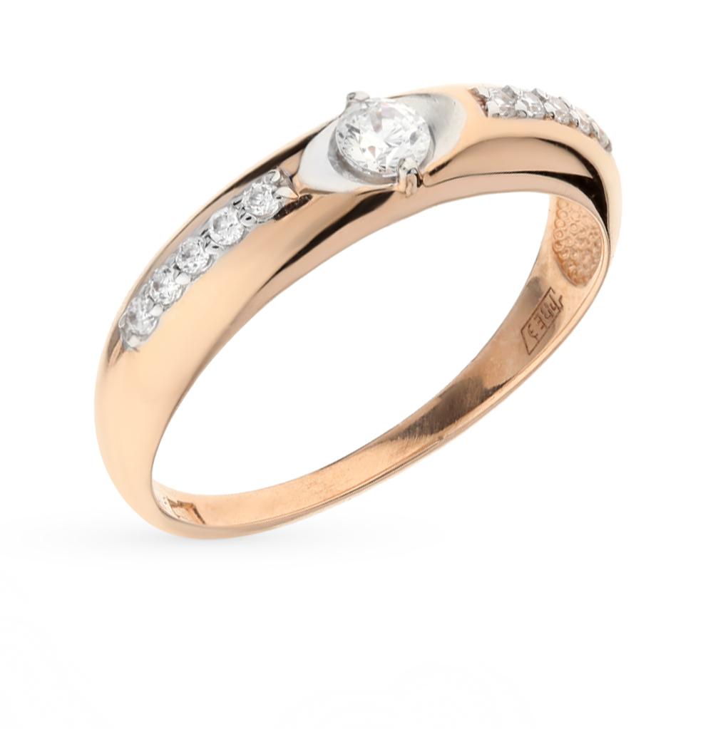 Фото «Золотое кольцо с фианитами SOKOLOV 81010227*»