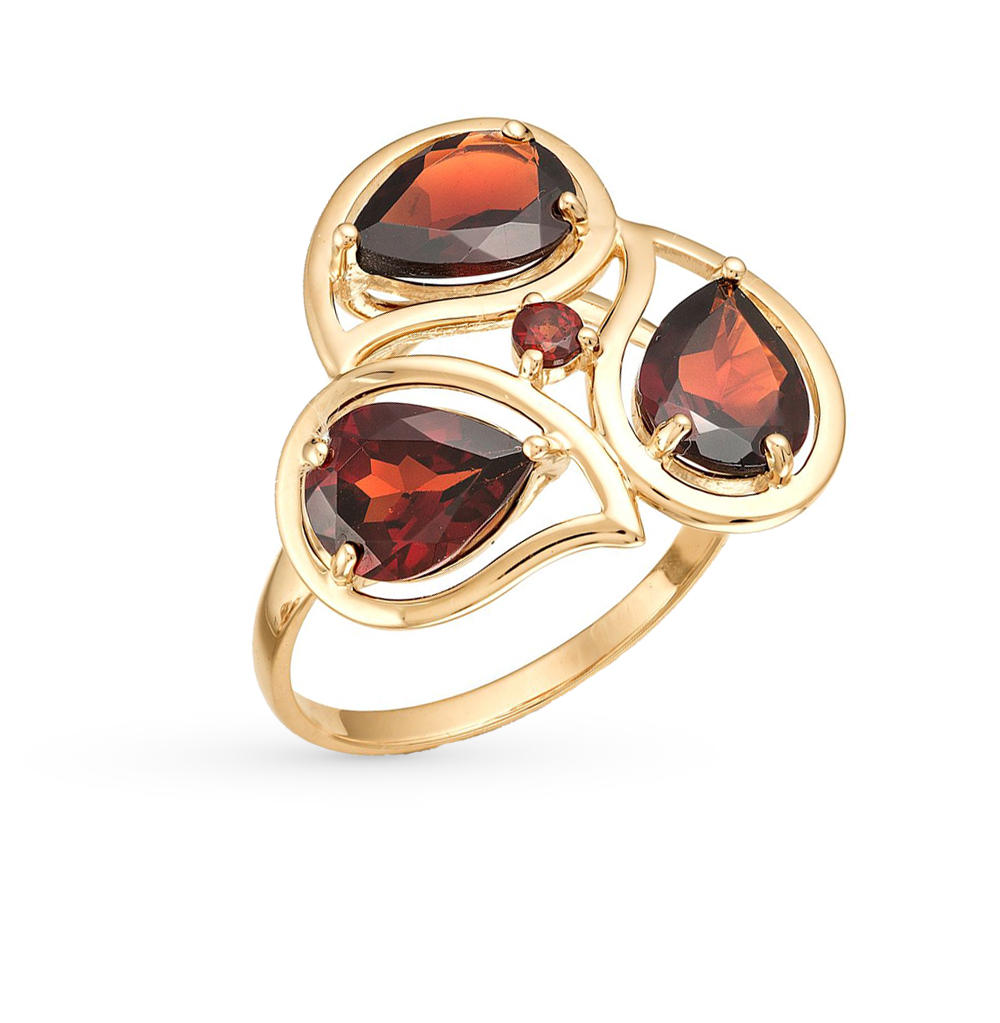 Фото «золото кольцо с гранатом»