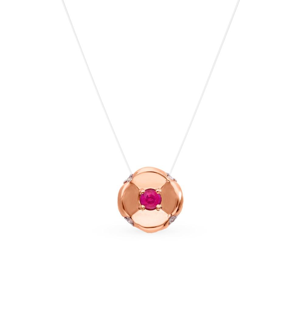 Золотое колье с рубинами и бриллиантами в Екатеринбурге