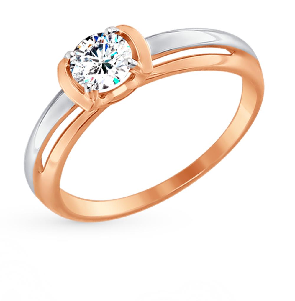 золотое кольцо с фианитами SOKOLOV 017447*