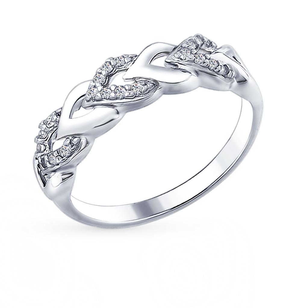 Фото «Серебряное кольцо с фианитами SOKOLOV 94012332»