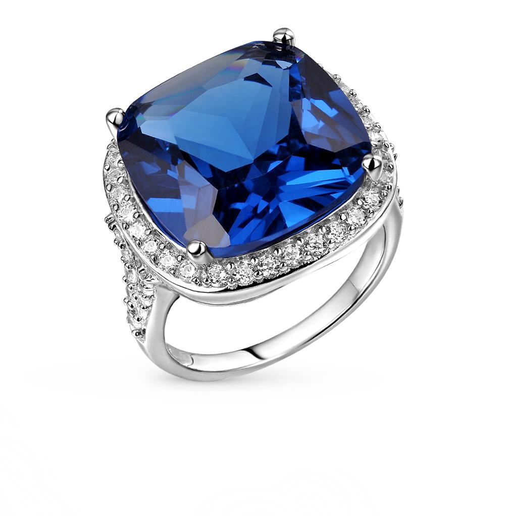 Фото «серебряное кольцо с фианитами и шпинелями синтетическими»