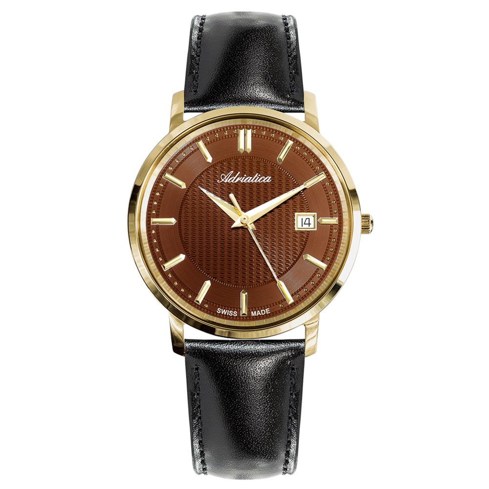 Мужские часы A1277.121GQ на кожаном ремешке с сапфировым стеклом