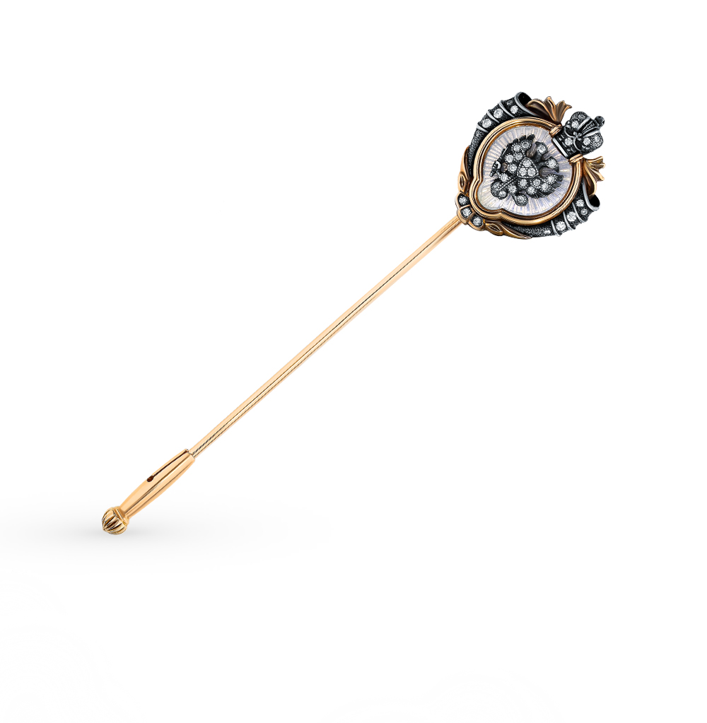 Золотая булавка с бриллиантами в Екатеринбурге